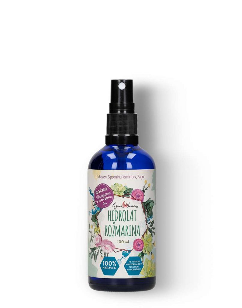 Hidrolat rožmarina, GaiaLuna domača kozmetika
