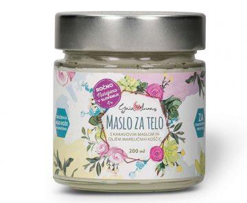 Maslo za telo, Na osnovi naravnega kakavovega masla in olja mareličnih koščic, GaiaLuna domača kozmetika