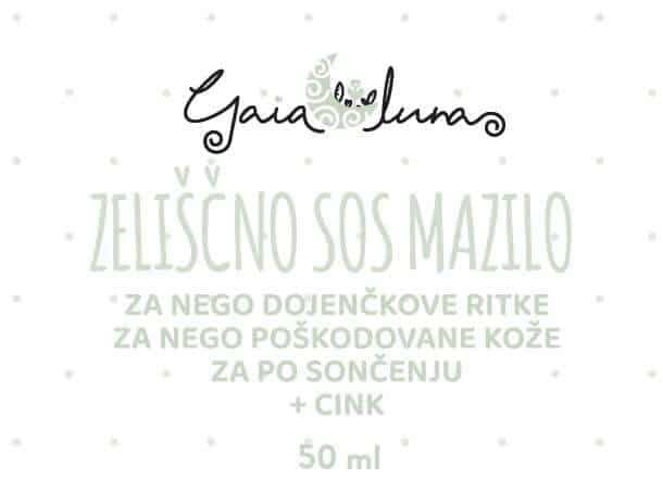 Zeliščna SOS krema s cinkom, GaiaLuna domača kozmetika