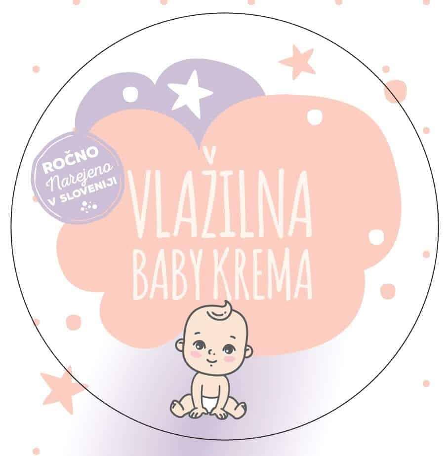 Vlažilna krema za dojenčke, otroška kozmetika, GaiaLuna domača kozmetika